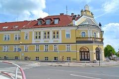 Melnik, Tsjechische republiek Mening van de bouw van Arrondissementsrechtbank Royalty-vrije Stock Fotografie