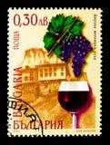 Melnikdruif, Melnik, Wijnen en Wijnbouwgebieden serie, circa 2001 Royalty-vrije Stock Afbeeldingen
