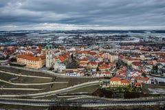 Melnikstad in Tsjechische Republiek royalty-vrije stock afbeeldingen