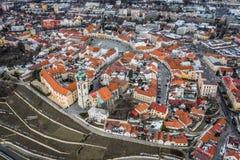 Melnikstad in Tsjechische Republiek stock fotografie