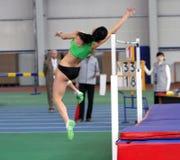 Melnychenko Hannaon the Ukrainian Track and Field Stock Photos