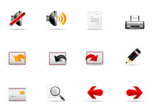 Melo Icon set. Website and Internet icon #2 Stock Photos