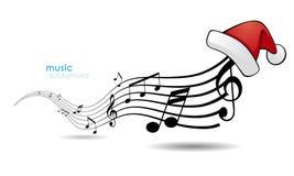 Melodía con el sombrero de la Navidad. ilustración del vector