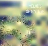 Melodía de la naturaleza - fondo o cubierta romántico ilustración del vector