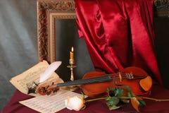 Melodía para un violín Imágenes de archivo libres de regalías