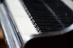 Melodi för konsert för svart för instrument för musik för pianotangentbord Royaltyfri Bild
