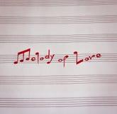 Melodia miłość Zdjęcia Stock