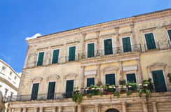 Melodia palace. Altamura. Puglia. Italy. Royalty Free Stock Photos