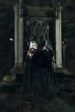 Melodia scura delle fiddle fotografie stock