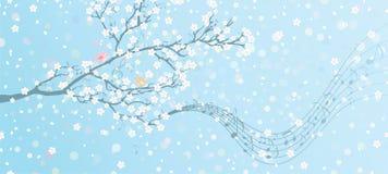 Melodia wiosna ilustracji