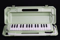 Melodian instrument na czerni zdjęcia stock