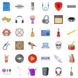 Melodic icons set, cartoon style. Melodic icons set. Cartoon set of 36 melodic vector icons for web isolated on white background Stock Photos