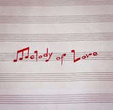Melodie der Liebe stockfotos