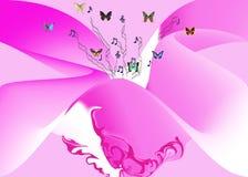 Melodie en roze royalty-vrije stock fotografie