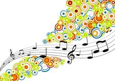 Melodien mit Kreisen. Vektor Lizenzfreies Stockbild