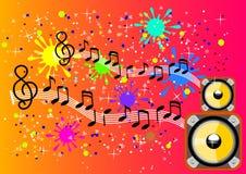 Melodienhintergrund Stockbild