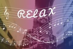 Melodii muzyki notatki rytmu grafiki pojęcie Zdjęcia Stock