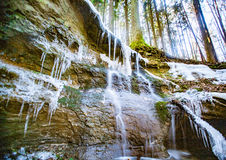 The melodious waterfall near Lauf a.d. Pegnitz, Germany. The melodious Waterfall is a small waterfall north of Haimendorf, a district of R�thenbach a.d Stock Image
