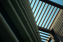 Melody of architecture. Lines in different directions give you a strong visual sense Royalty Free Stock Photography