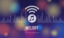 Melody Audio Enterainment Listen Music sångbegrepp Arkivbild