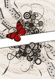 Melody banner. Abstract background with empty advert place for your business Royalty Free Stock Photo