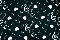 The melody on black baground. Stock Images