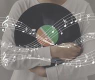 Melody Music Note Rhythm Graphic-Konzept lizenzfreie stockfotografie