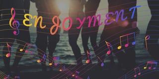 Melody Music Note Rhythm Graphic-Konzept Stockfotografie