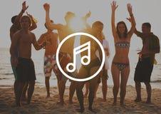 Melody Music Sound Key Artistic-het Concept van het Pictogramteken Royalty-vrije Stock Afbeelding