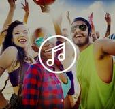 Melody Music Sound Key Artistic-het Concept van het Pictogramteken Royalty-vrije Stock Foto