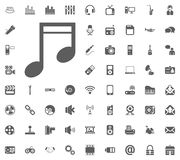 Melody, Note icon. Media, Music and Communication vector illustration icon set. Set of universal icons. Set of 64 icons.  Royalty Free Stock Image