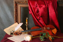 Melody for a violin Royalty Free Stock Images
