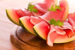 Meloen & Ham Royalty-vrije Stock Afbeeldingen