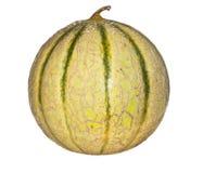 Meloen die op een witte achtergrond wordt geïsoleerd Stock Afbeelding