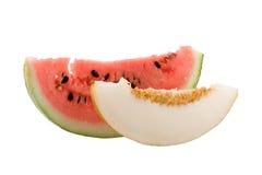 Meloen en watermeloen Royalty-vrije Stock Fotografie