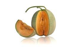 Meloen Japanner binnen sinaasappel stock afbeelding