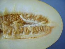 Meloen met zaden stock foto's