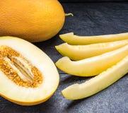 Meloen op de zwarte lijst Royalty-vrije Stock Fotografie
