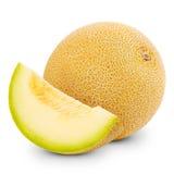 Meloen op wit wordt geïsoleerd dat Stock Fotografie