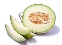 Meloen op witte achtergrond wordt geïsoleerd die Royalty-vrije Stock Foto