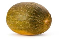 Meloen op witte dichte omhooggaand wordt geïsoleerd die als achtergrond royalty-vrije stock fotografie