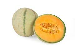 Meloenen die op wit worden geïsoleerdn royalty-vrije stock foto