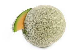 Meloensinaasappel op witte achtergrond Stock Afbeelding
