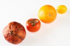 Melograno arancio del cachi del limone di frutta fresca Fotografie Stock Libere da Diritti