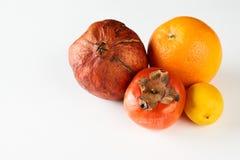 Melograno arancio del cachi del limone maturo di frutti Immagine Stock