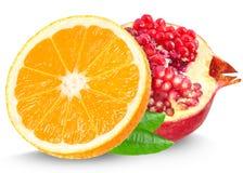 Melograno ed arancio Fotografia Stock Libera da Diritti