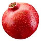 Melograno. Frutta con le gocce isolata su bianco fotografia stock libera da diritti