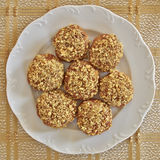 Melomacarona, γαστρονομικά ελληνικά μπισκότα Χριστουγέννων στοκ φωτογραφίες με δικαίωμα ελεύθερης χρήσης
