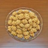 Melomacarona, biscuits grecs gastronomes de Noël Images libres de droits