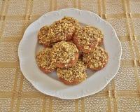 Melomacarona, gourmet Greek Christmas cookies Royalty Free Stock Photos